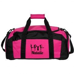 Love Pose Cheer Bag With Custom Name Gift