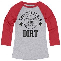 Softball Girls Play In The Dirt
