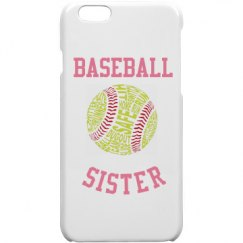 Baseball Sister Iphone 6 Case
