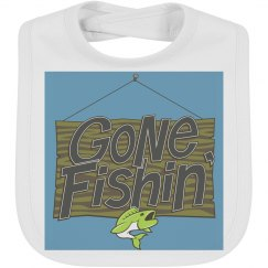 Gone fishin infant bib