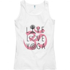 Live Love Yoga Fitness with Om Symbol