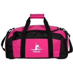 Violet gymnastics bag