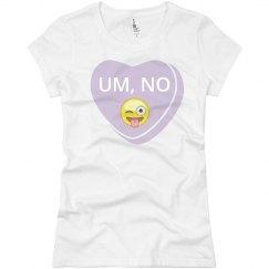 Um, No Emoji
