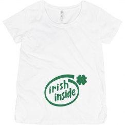 Irish Inside St Patty Maternity Top
