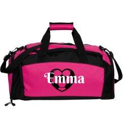 Emma. Soccer bag