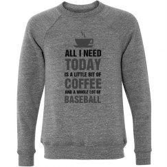 Little bit of coffee and a whole lot of Baseball shirt