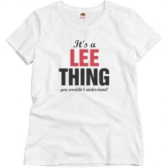 It's a Lee thing