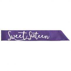 Sweet 16 Birthday Sash