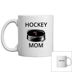 #1 hockey mom coffee mug