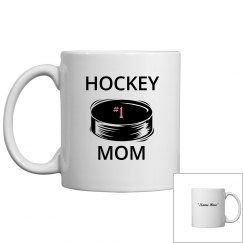 #1 hockey mom coffee mug