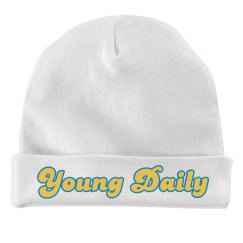 Young Daily White Beanie