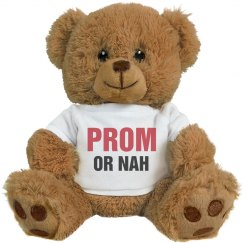 Prom Or Nah Funny Promposal Bear