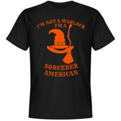 Sorcerer American Halloween Humor Tee