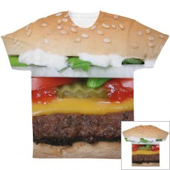 Cheeseburger All Over Print Shirt