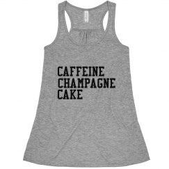 caffeine champagne cake