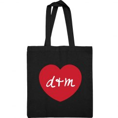Cute Tote With Custom Initials