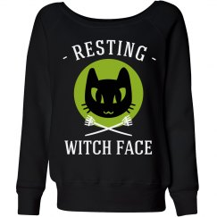 Resting Halloween Witch Face