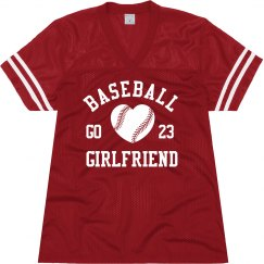 Cute Baseball Girlfriend Mesh Jersey With Custom Text