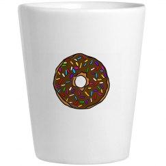 Chocolate Donut with Rainbow Sprinkles Donut Worry