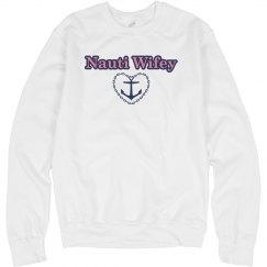 Nauti Wifey Womens Sweatshirt