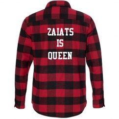 Zaiats Is Queen Club Flannel Shirt