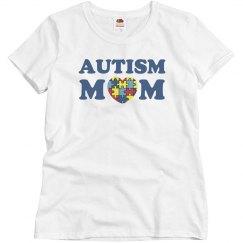 Autism Mom Puzzle Heart