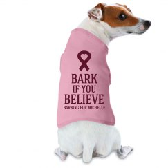 Funny Breast Cancer Dog Shirt With Custom Name