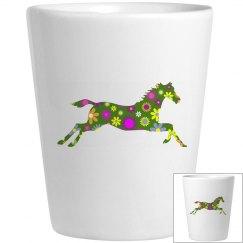 retro floral horse