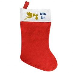 Baby Girl Xmas Stocking