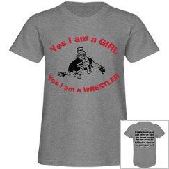 Girl wrestler