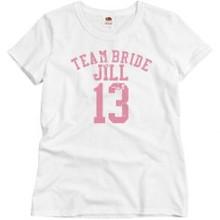 Team Bride Striped Sleeve