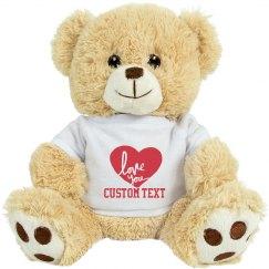 Custom Valentine's Day Bear