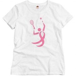 Breast Cancer Pink Ribbon Tennis Charity Tshirt