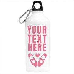 Custom Ballet Water Bottle