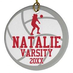 Custom Volleyball Varsity Christmas Gift Ornament