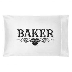 BAKER. Pillow case