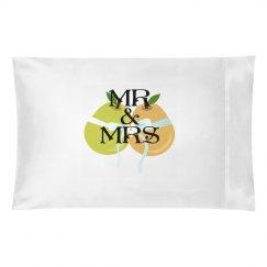 MR MRS WEDDING PILLOWCASE
