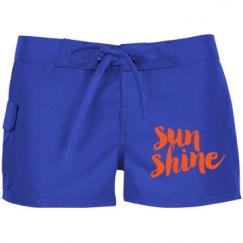Neon Orange Sun Shine
