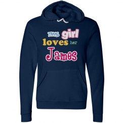 This girl loves her James