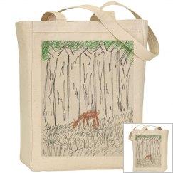 Deer Library bag