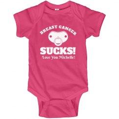 Breast Cancer Sucks Charity Baby Onesie