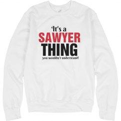 It's a sawyer thing