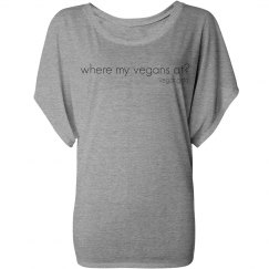 where my vegans dolman tee