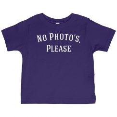 No photo's please