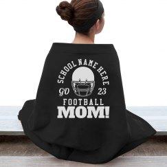 Football Mom Pride Blanket With Custom Number
