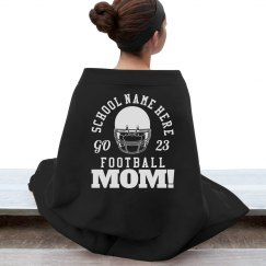 Football Mom Pride Blanket With Custom Number