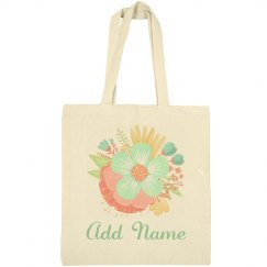 Custom Floral Spring Easter Bag