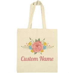 Floral Easter Bag With Custom Name
