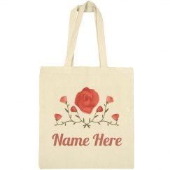 Painted Floral Custom Name Spring
