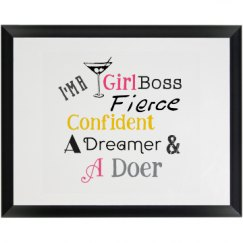 I'm a Girl Boss Plaque